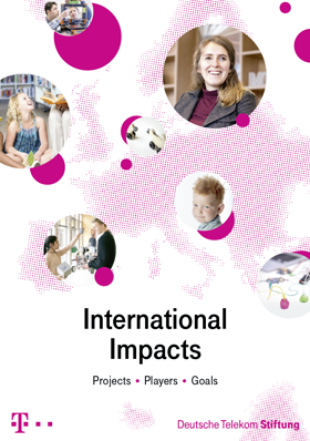 "Cover from booklet ""International Impacts"""